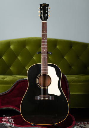 1960s Gibson J-45 guitar black with white pickguard