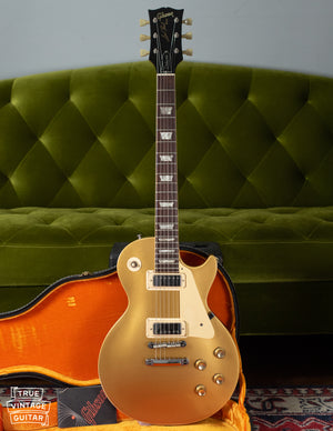 Vintage Gibson Les Paul gold guitar