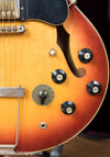 Witch hat volume and tone knobs, varitone switch, Vintage 1972 Gibson ES-345 Stereo Sunburst