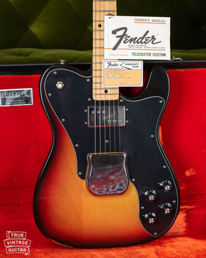 1973 Fender Telecaster Custom Sunburst electric guitar