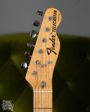 Fender headstock, Telecaster Custom, 1973