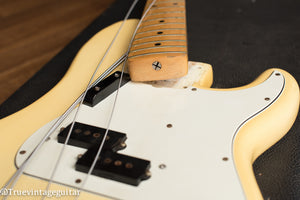 1976 Fender Precision Bass Olympic White Narrow Nut