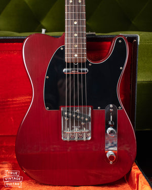 Vintage 1978 Fender Telecaster electric guitar Wine red