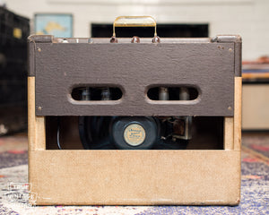 back of Vintage 1957 Gibson GA-20 guitar amplifier