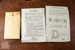 1960 Gibson paperwork Humbucker adjustment sheet Tune-o-matic bridge adjustment sheet
