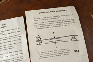 Vintage Gibson humbucker ajdustment instructions