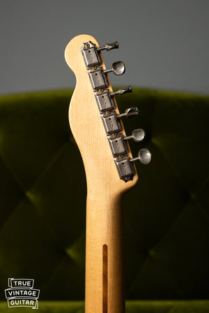1957 Fender Telecaster Blond back of headstock, tuners