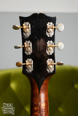 1941 Gibson Super Jumbo 100 SJ-100 tuners, back of headstock