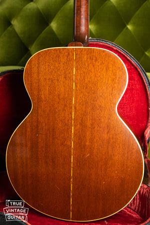 1941 Gibson Super Jumbo 100 SJ-100, back of body, Mahogany