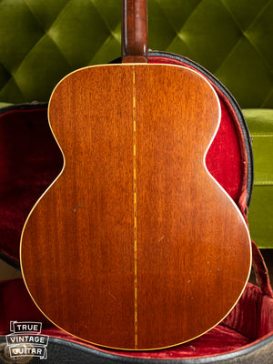 1941 Gibson Super Jumbo 100 SJ-100 back of body, Mahogany