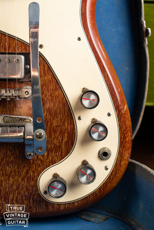 1965 Epiphone Wilshire Red Fox, volume and tone knobs