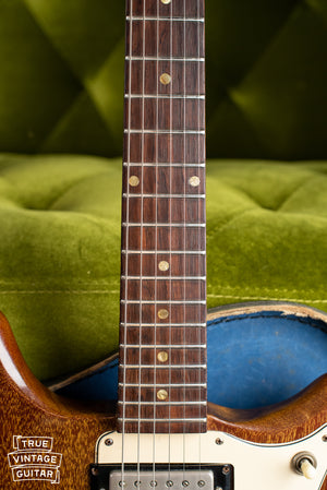 1965 Epiphone Wilshire Red Fox fretboard