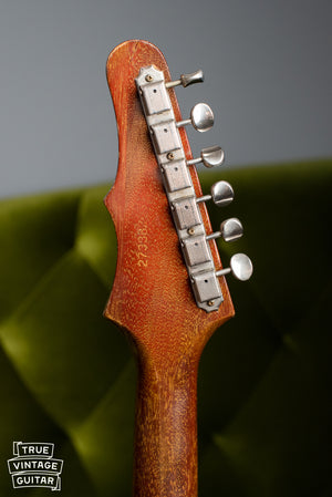 1965 Epiphone Wilshire Red Fox, back of headstock, tuners