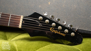 1965 Epiphone Wilshire Red Fox, headstock