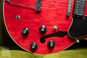 Volume and tone knobs, 1973 Gibson ES-335 TD Cherry