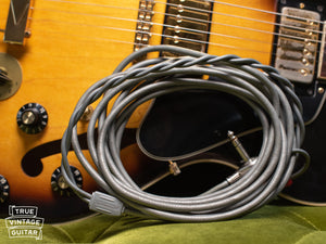 Vintage grey Switchcraft Stereo cable, 1976 Gibson ES-345 TD Sunburst