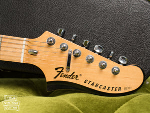 Headstock, Logo, 1976 Fender Starcaster Natural