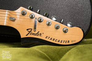 Headstock, Vintage 1976 Fender Starcaster Natural