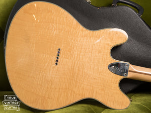 Back, Vintage 1976 Fender Starcaster Natural
