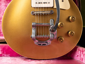 1960s Bigsby B5 tailpiece, Vintage 1955 Gibson Les Paul Model Goldtop factory refinish update 1969