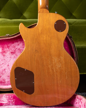 Mahogany back, Vintage 1955 Gibson Les Paul Model Goldtop factory refinish update 1969