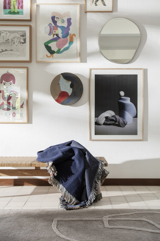 ferm Living Pond spejl - Small - Sort