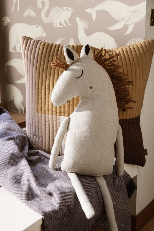ferm Living Safari pude - Hest/Natural