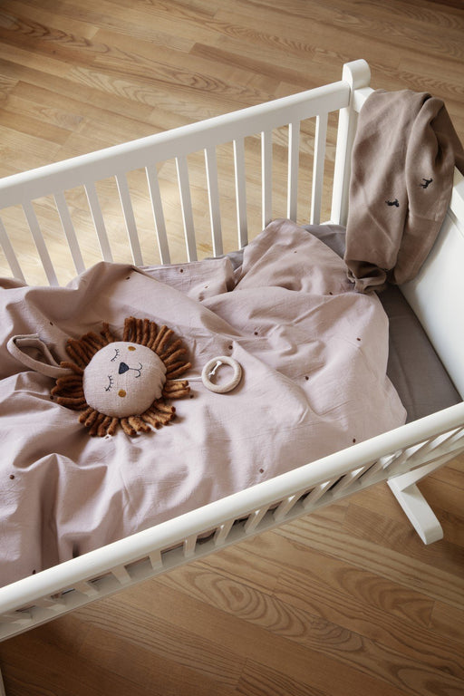ferm Living Dot Embr. sengetøj - Baby - Dusty Rose