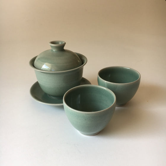 Handcrafted Stoneware Gaiwan Tea Set