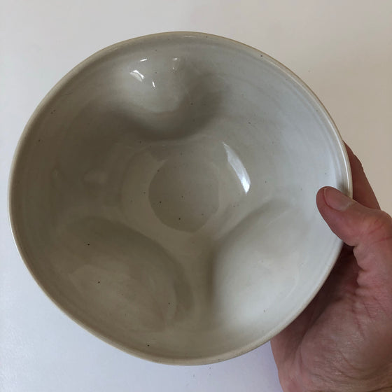 Cream White Heart Shaped Bowl