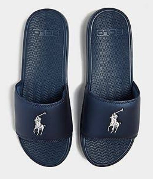 Polo Ralph Lauren Rodwell blue slide sandals