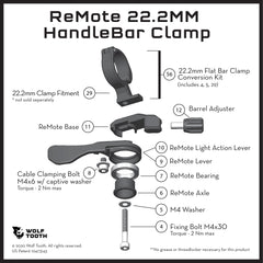ReMote for 22.2mm flatbar handlebar clamp diagram