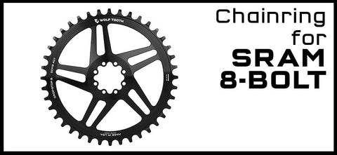 Wolf Tooth Chainring for SRAM 8-Bolt