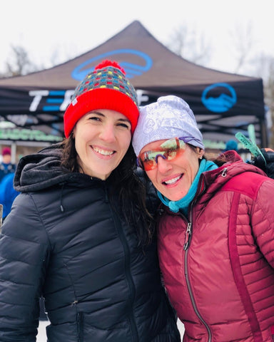 Erin and fellow racer after fat bike race
