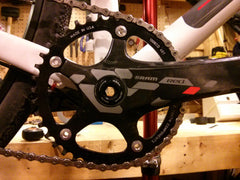 SRAM Red Exogram bicycle cranks and chainring