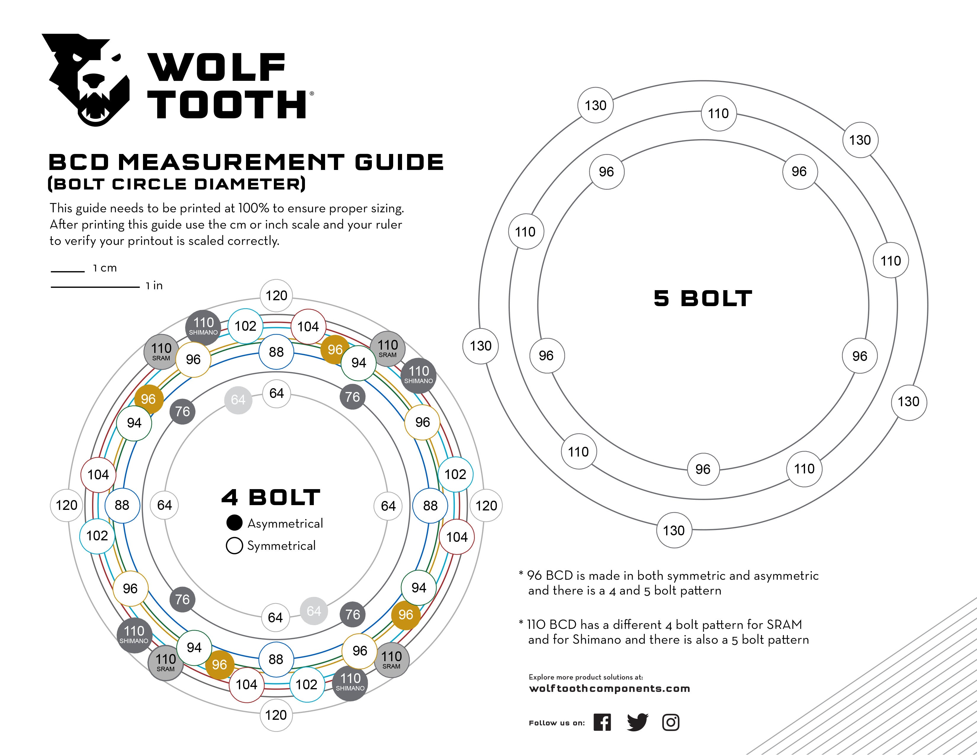 Wolf Tooth How To Measure Bolt Circle Diameter Bcd Wolf Tooth Components