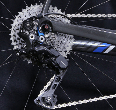 Wolf Tooth 1x drivetrain with Tanpan installed on bike for Shimano
