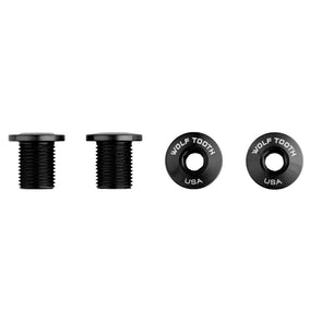 Set of 4 Chainring Bolts for M8 threaded chainrings (10 mm long)