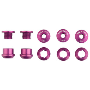 Set of 5 Chainring Bolts+Nuts for 1X