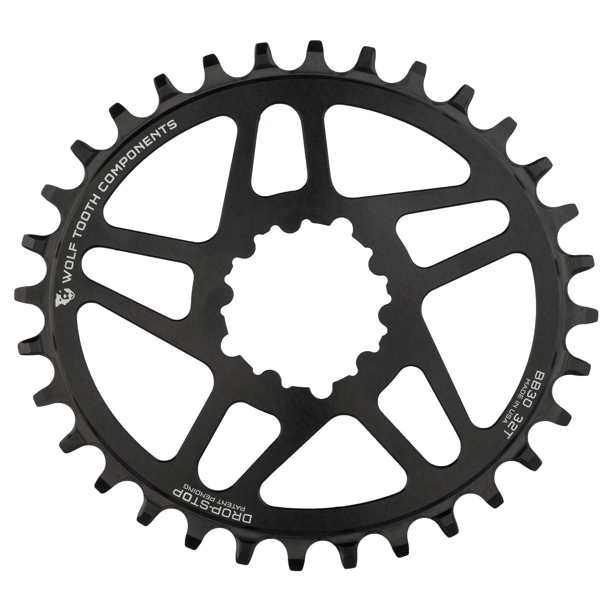 Wolf Tooth Components Elliptical Chainring 32t SRAM Direct Mount GXP 6mm Offset for sale online