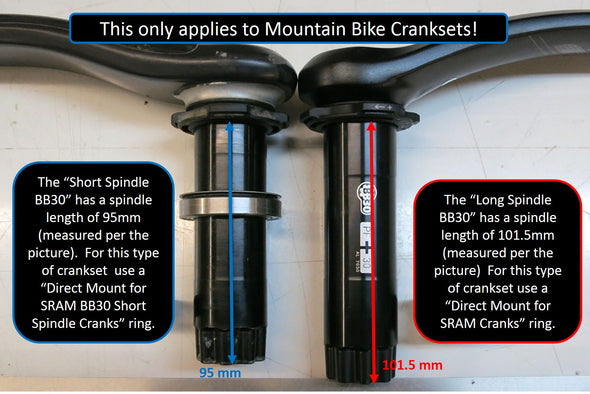 Direct Mount Stainless Steel for SRAM Cranks