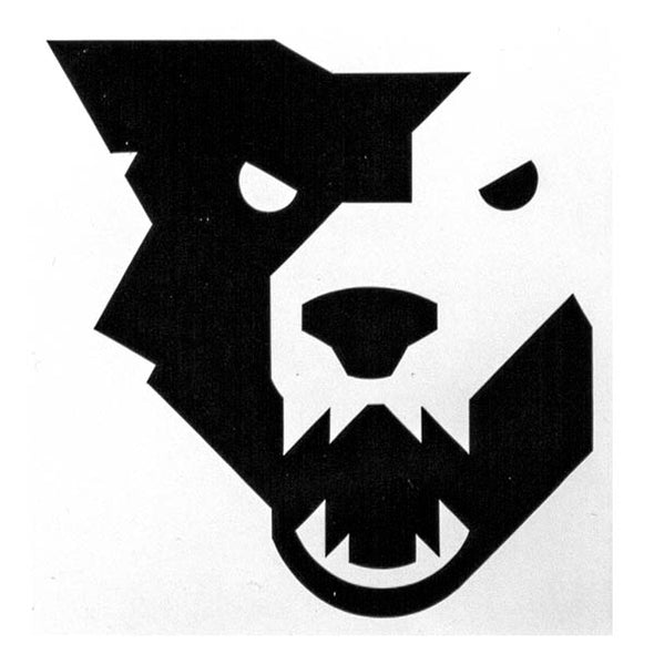 Wolf Tooth black wolf head decal