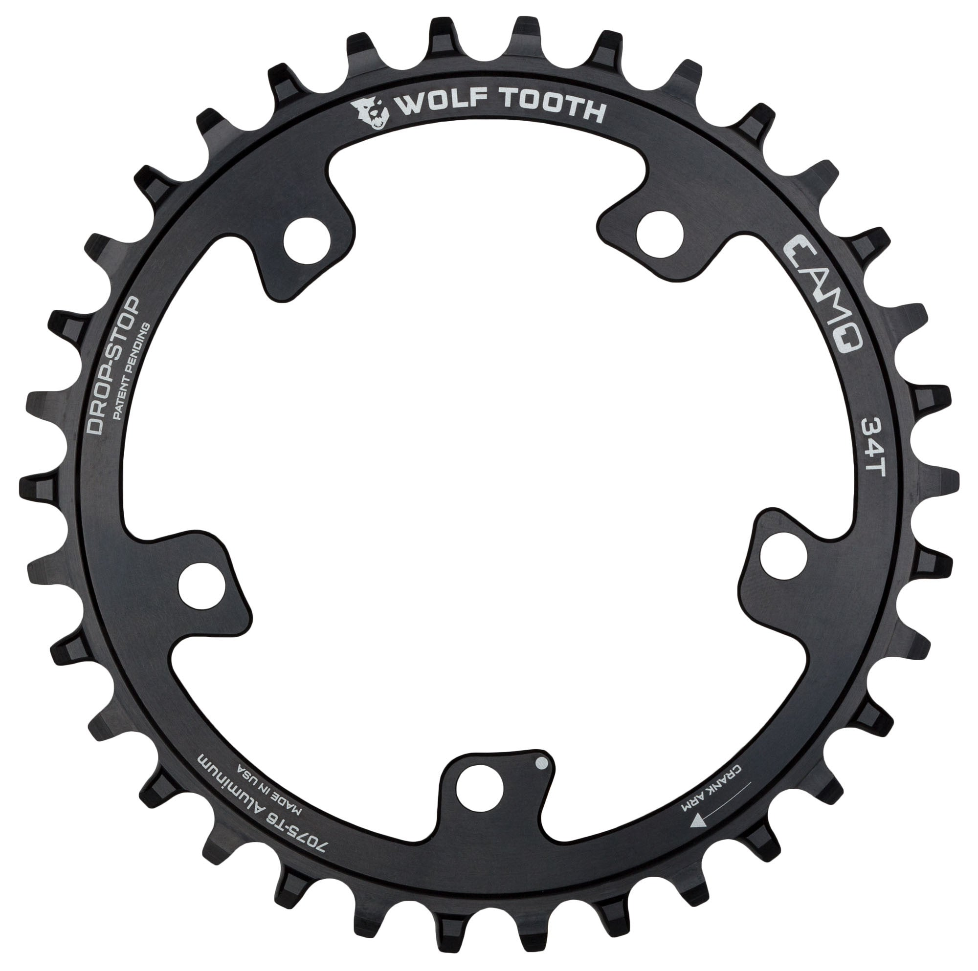 Wolf Tooth Components CAMO Stainless Round 32T Chainring