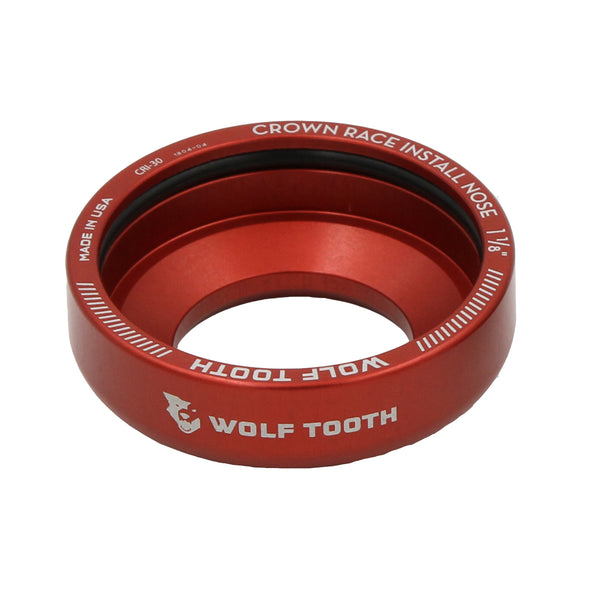 Wolf tooth crown race headset install adapter red