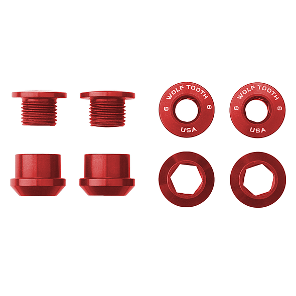 Set of 4 Chainring Bolts+Nuts for 1X