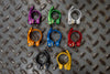 All 8 colors of Wolf Tooth QR Seatpost Clamp