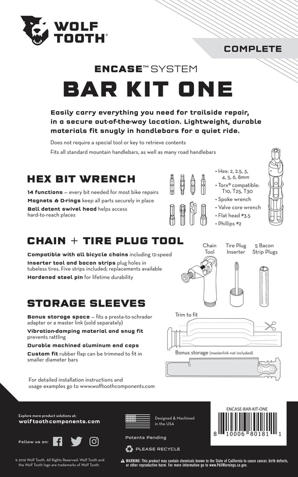 EnCase System Bar Kit One