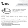 Wolf Tooth Seatpost clamp, seat post collar, package instructions