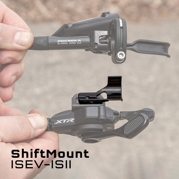 Wolf Tooth ShiftMount ISEV-ISII is for a Shimano I-Spec EV shifter mounting to a Shimano I-Spec II brake