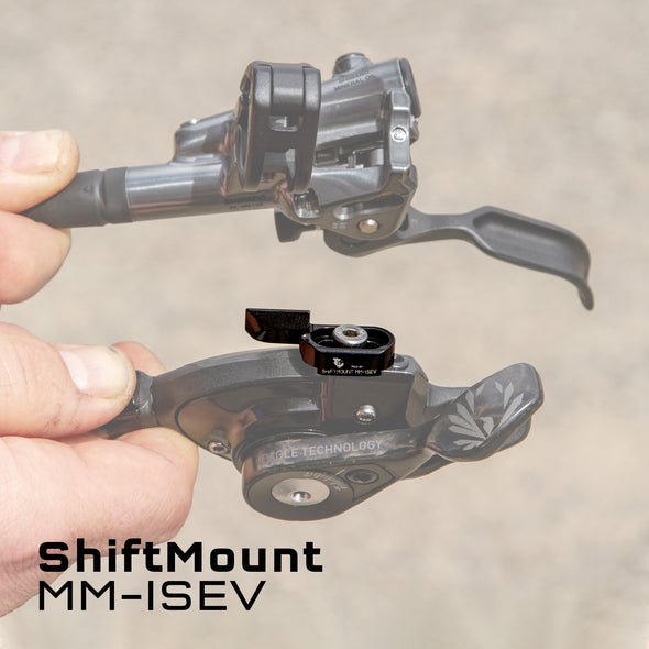 Wolf Tooth ShiftMount MM-ISEV is for a SRAM MatchMaker shifter mounting to a Shimano I-Spec EV brake